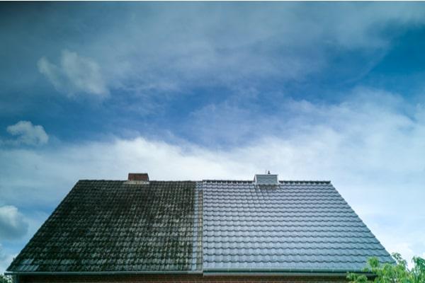 toit propre et sale